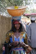 Woman at the market - probably Bororo ethnic. Lake Chad area. Cameroon.