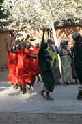 Traditional dance at Oudjilla village. Cameroon.