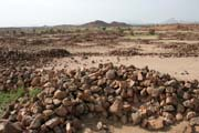 Remains of old villages and palaces at area called Asaude. Sahara desert. Niger.