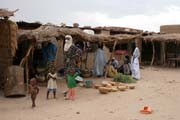 Center and market place of In-Gall town. Niger.