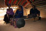 Tuareg women at wedding party inside house of young marrieds. Sahara desert. Niger.