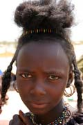 Girl from nomadic Wodaabé tribe (also called Bororo) at Gerewol festival. Niger.
