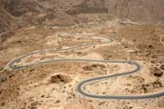 Mountain road between Wadi Hadramawt and coast near Al-Mukalla town. Yemen.