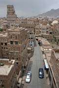 Street at old quarter of Sana capitol. Yemen.