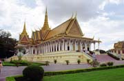 Royal palace Street at at Phnom Penh capitol. Cambodia.