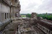 View to the Angkor Wat temple. Angkor Wat temples area. Cambodia.