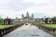 Main entrance to the Angkor Wat temple. Angkor Wat temples area. Cambodia.
