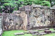 The Terrace of Elephants at central area of Angkor Thom. Angkor Wat temples area. Cambodia.