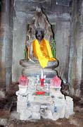 Shrine at the Bayon temple. Angkor Wat temples area. Cambodia.