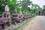 South gate of Angkor Thom. Angkor Wat temples area. Cambodia.