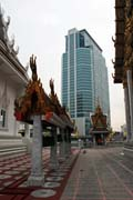 Wat Hua Lamphong Temple is located in the middle of the modern city center, Bangkok, Thailand. Thailand.