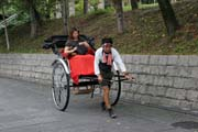 Traditional rickshaw, Kyoto. Japan.