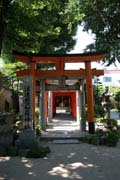 Multiple torii at Kushida shrine at at Fukuoka city. Japan.