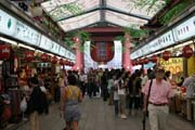 Entrance street to Senso-ji temple at Asakusa district, Tokyo. Japan.