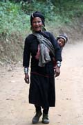 Woman from Eng tribe (sometimes called Ann or black teeth people), area around Kengtung town. This area is famous for different hill tribe people. Myanmar (Burma).