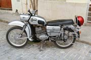 Old motorcycle EMZ made at East Germany. Who does it remember? Havana. Cuba.