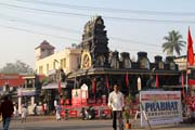 Pazhavangadi Ganapathy temple, Thiruvananthapuram (Trivandrum). It one of the main Lord Ganesh temples in Kerala. India.