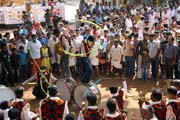 Thaipooya Mahotsavam Festival - dancing is accompanied by loud and hypnotic music. India.
