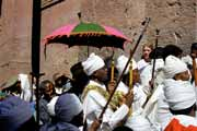 Procession during Timkat. Lalibela. Ethiopia.