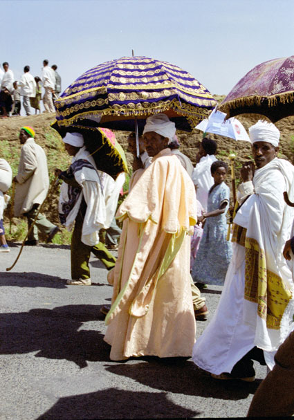 Procession during Timkat. Lalibela. North,  Ethiopia.