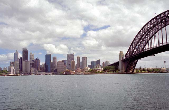 Sydney and Harbour bridge. Australia.