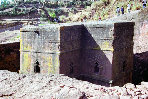 St. George stone church. Lalibela. North,  Ethiopia.