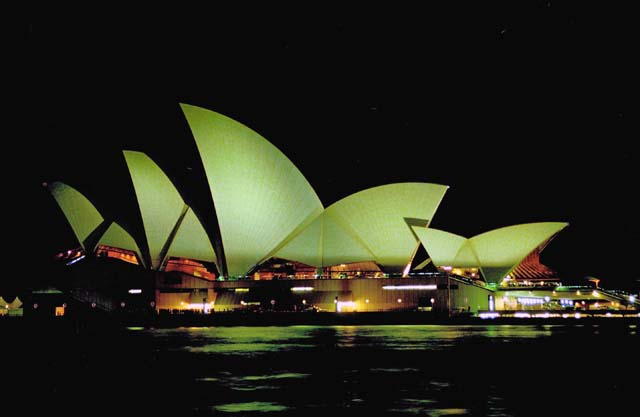 Opera house at night, Sydney. Australia.