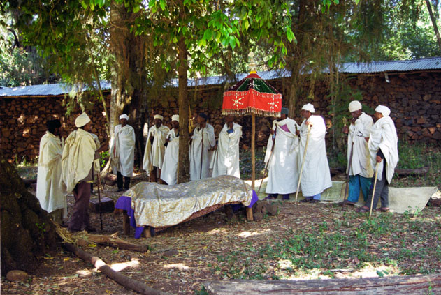 Funeral at village at Tana lake. North,  Ethiopia.