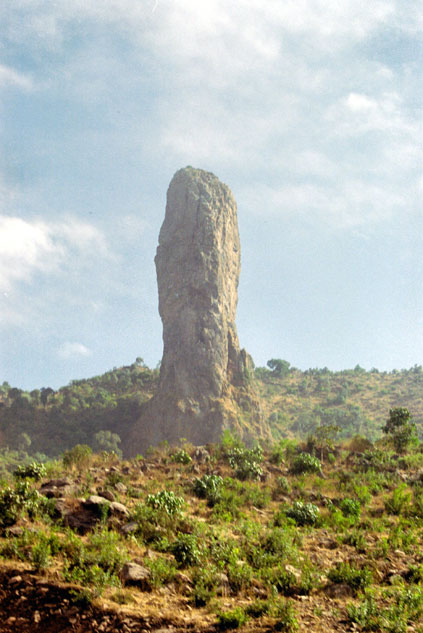 Rock on the way between Gonder and Bahar Dar. North,  Ethiopia.