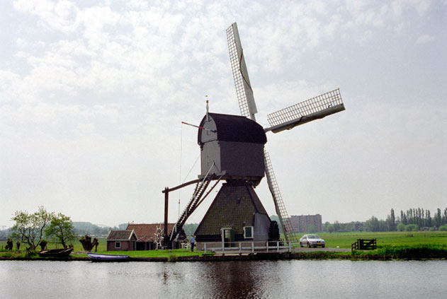 Wind mill. Kinderdijk. Netherlands.