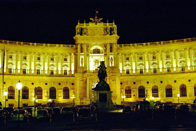 Night Vienna. Austria.