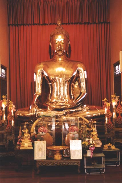 Golden Buddha in Sukhothai Traimit temple. Bangkok. Thailand.