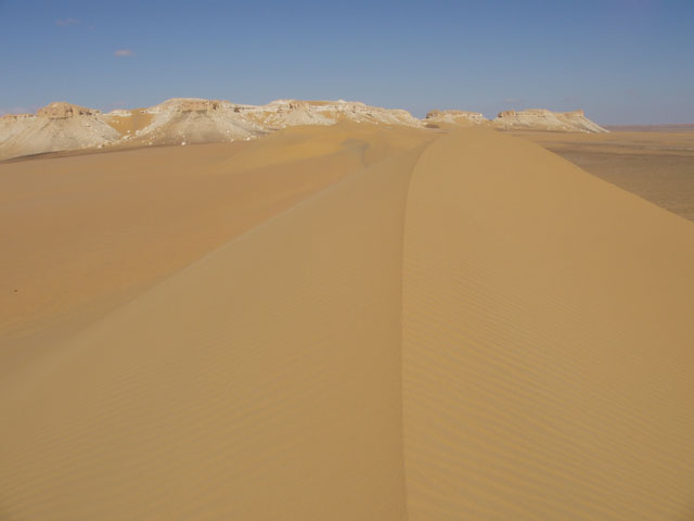 Sand dunes at Sahara desert. Egypt.