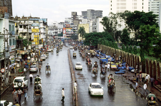 Main street at Dhaka capitol Bangladesh.