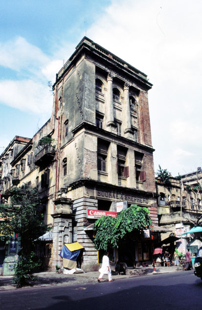 Colonial building in Calcutta. India.