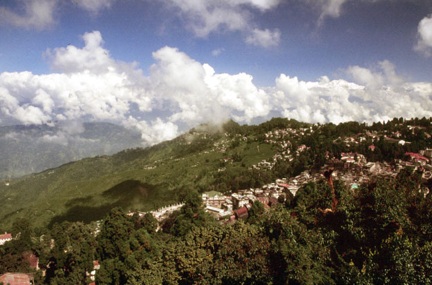 View at Darjeeling town. India.