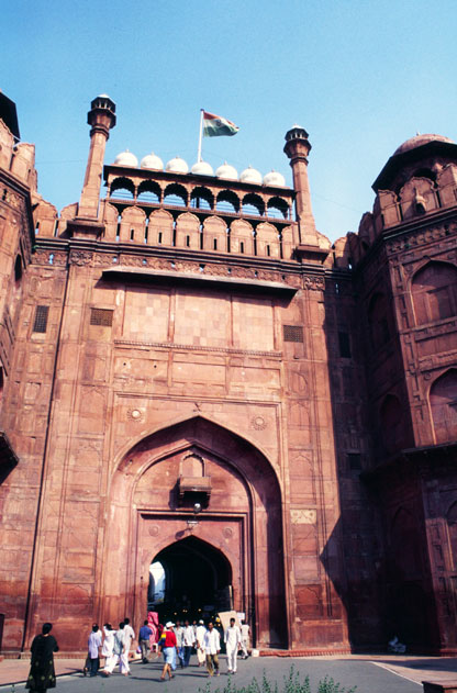 Entrance to Red fort at old Delhi. India.