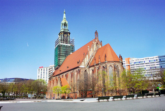 Marienkirche church. Berlin. Germany.