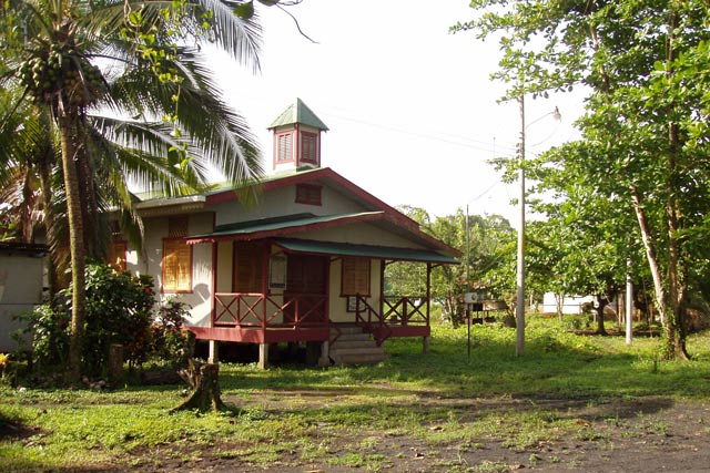 Small village church. Manzanillo. Costa Rica.