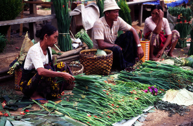 At the market. Inle lake area. Myanmar (Burma).