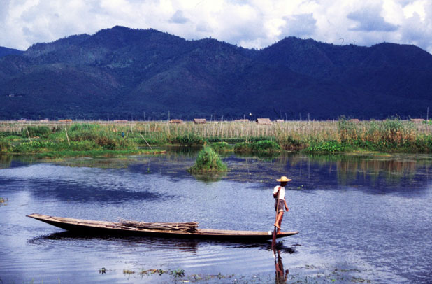 Life at the Inle lake. Myanmar (Burma).