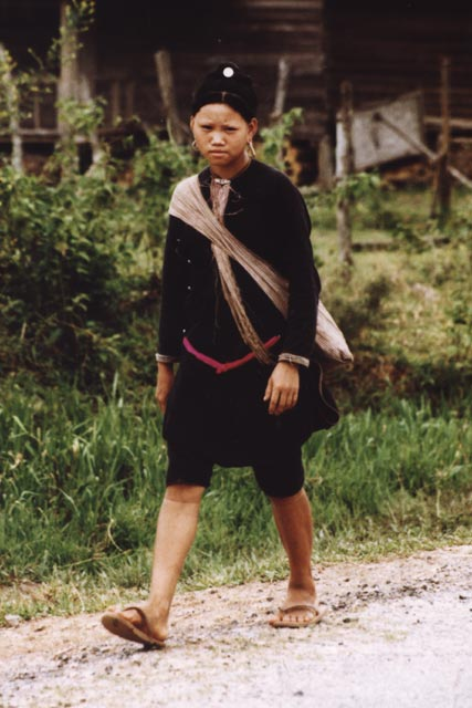 Woman from Khmu hill tribe at Muang Sing market. Laos.