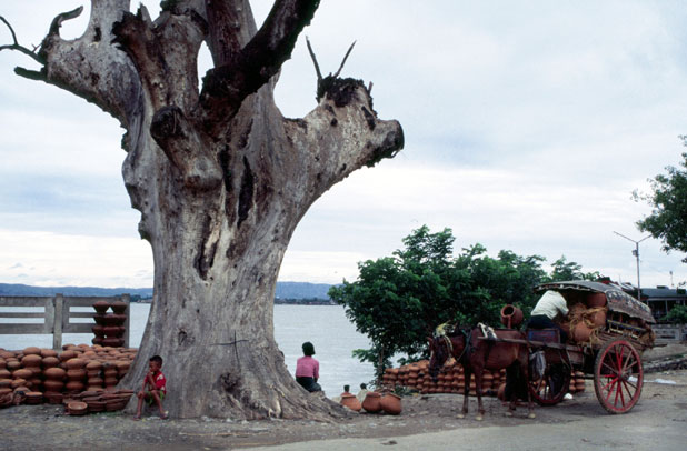 Near river Ayeyarwady at Mandalay. Myanmar (Burma).