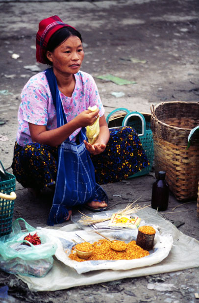 At the market. Hsipaw village. Myanmar (Burma).