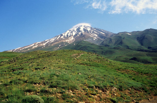 Mt Damavand - the highest mountain of Iran. Iran.