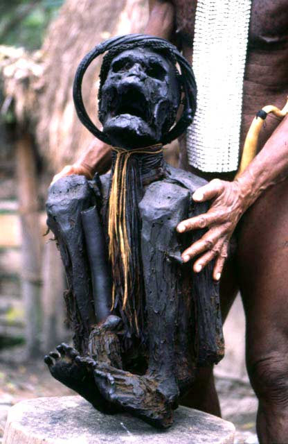 300 years old Mummy in Jiwika village. Papua,  Indonesia.
