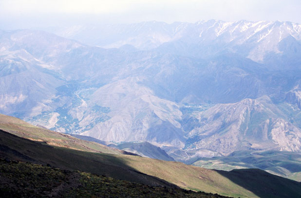 View from way to the top of Mt Damavand. Iran.