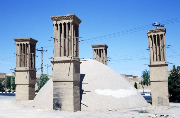 "Traditional ""airconditioning"" - windtowers (badgirs). Yazd. Iran."
