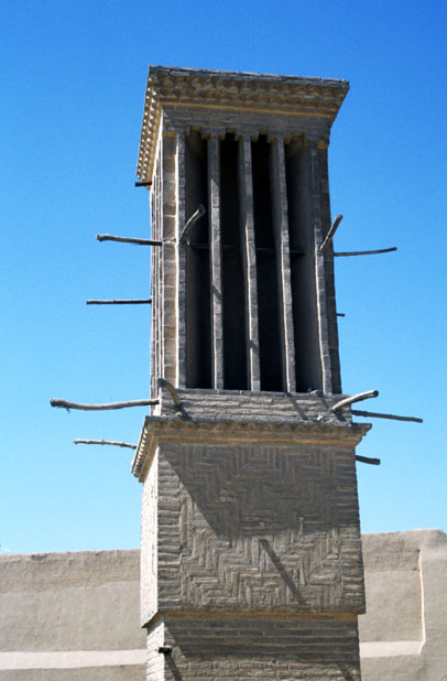 "Windtower (badgirs) which is part of traditional ""airconditioning"" system. Yazd. Iran."