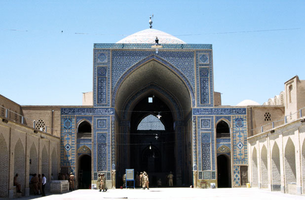 Mosque Jameh at Yazd town. Iran.
